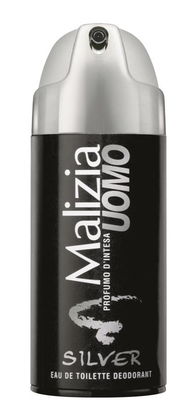 Malizia Uomo - férfi dezodor Silver 150ml