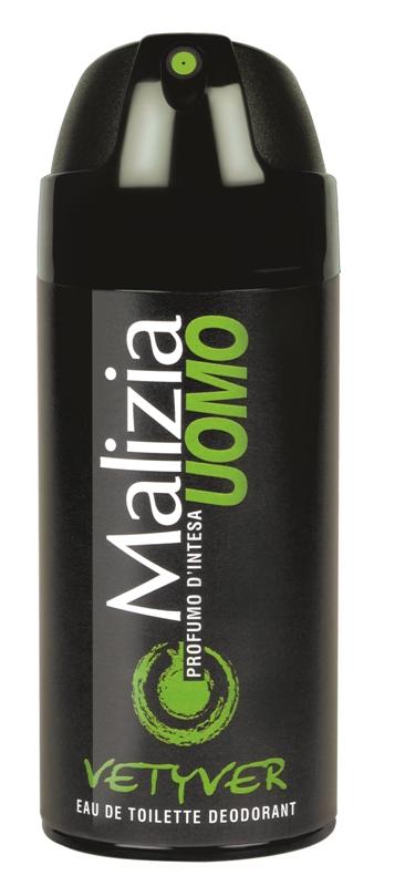 Malizia Uomo - férfi dezodor Vetyver 150ml