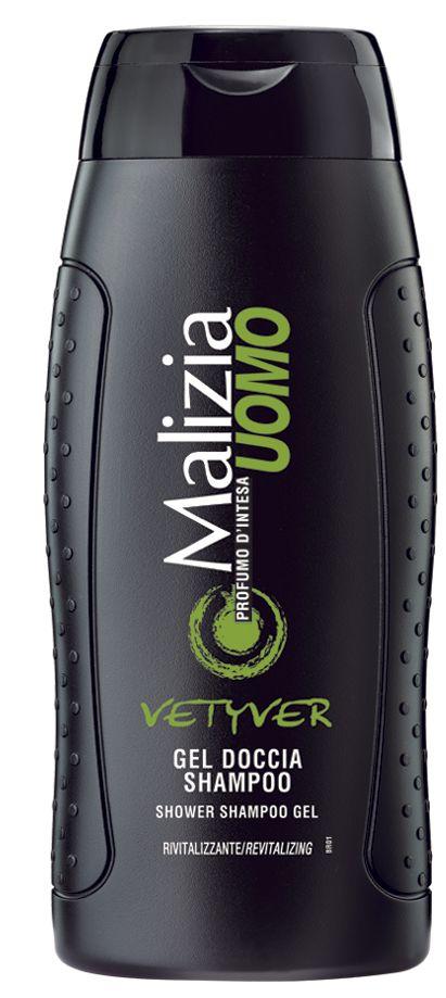 Malizia Uomo - Tusfürdő+sampon Vetyver 250ml