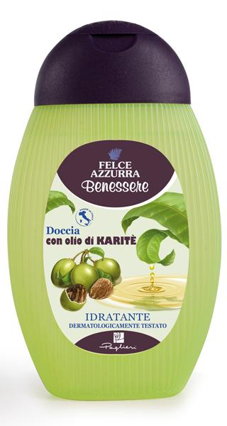 Felce Azzurra Benessere tusfürdő Karité olajjal 400 ml